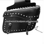 SADDLE BAGs Classic Two Strap Leather Motorcycle BAG Any Bike