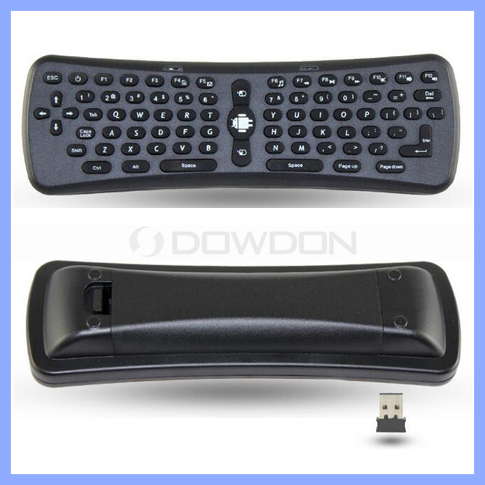 6-Axis G-sensor wireless keyboard android smart air mouse remote controll anti-shake algorithm with USB receiver