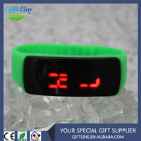 GIFTLINE Fashionable Cheaper Waterproof Rubber Digital Silicone Led Watch For Sports
