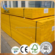 Yellow Paint LVL plywood plank for construction 500 mm wide 2000 mm lenght 27 mm thick