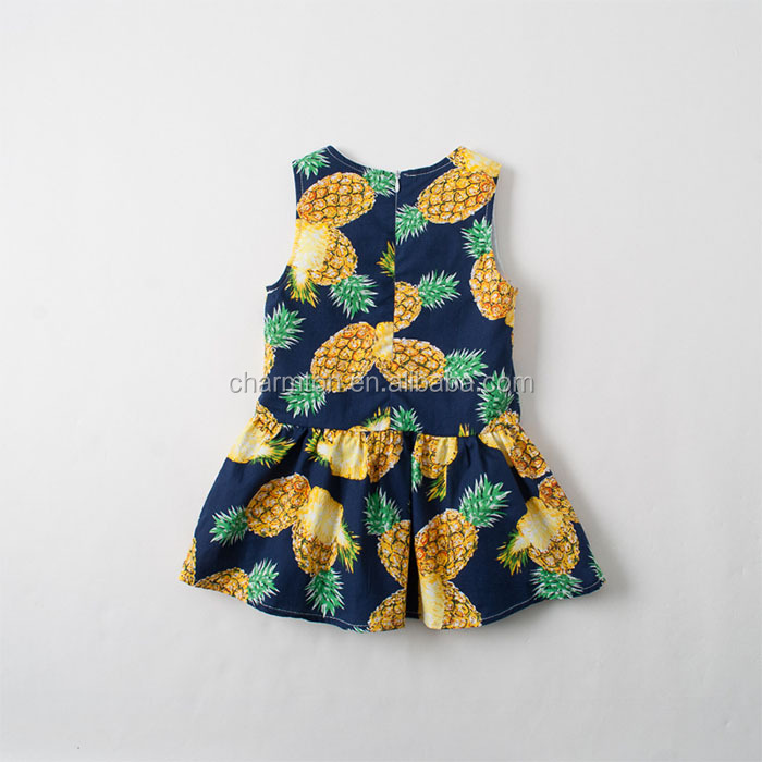 Wholesale Fancy Baby Girls Pineapple Print Summer Dress