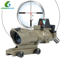 Greenbase Red Dot Sight 4x32 Riflescopes Optic Fiber Hunting Night Vision Scope
