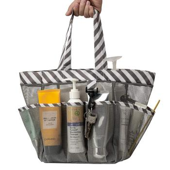Shower Caddy Tote Shower Basket Mesh Quick Dry Bathroom Organizer Bag swimming