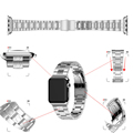 New Grid Three Links Stainless Steel Watch Band for Apple Watch 38mm/42mm(Silver)