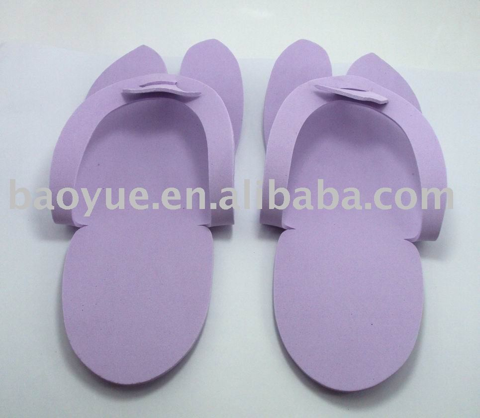Disposable Light Purple Slippers