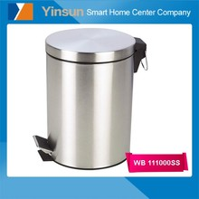 Eco-friendly stainless steel kids novelty metal trash can