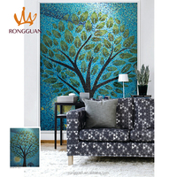 modern style painting wall decoration art glass mosaic for wall