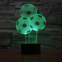 FS-2885 Football Shape Led Moon Lamp 3D Effect Light Balloon 3D Illusion Desk Table Lamp