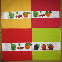 wholesale transfer print waffle cotton tea towel and kitchen towel