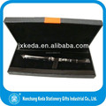 2013 Black Pen Gift Box With Leather Trim Ribbon Design For Fix Pen