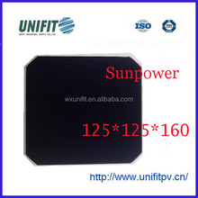 high efficiency 3.8w SunPower 125*125mm mono solar cell