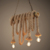 2018 new arrivals decorative vintage bamboo chandelier lamp with rope hanging light for kitchen restaurant dinning places
