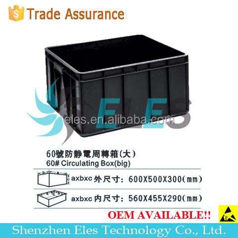 Stackable Anti-static box ESD tray Conductive bin