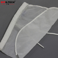 Nut Milk Filtering Bags/Nylon 100 Micron Sieve Mesh Liquid Filter Bag with Drawstring