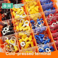 sample box Assortment cold-pressed terminal 605pcs ring type terminal connector wire splice terminal assortment kits terminal