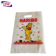 custom shopping thick hdpe die cut handle plastic bag