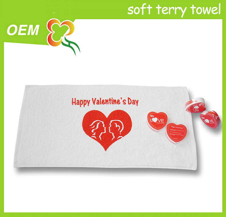 promotional advertisement gift noval shape magic towel