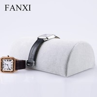 FANXI Factory Supplier Custom Grey Ice Velvet Necklace Watch Bracelet Holder Stand All Match Jewelry Display Stand Prop