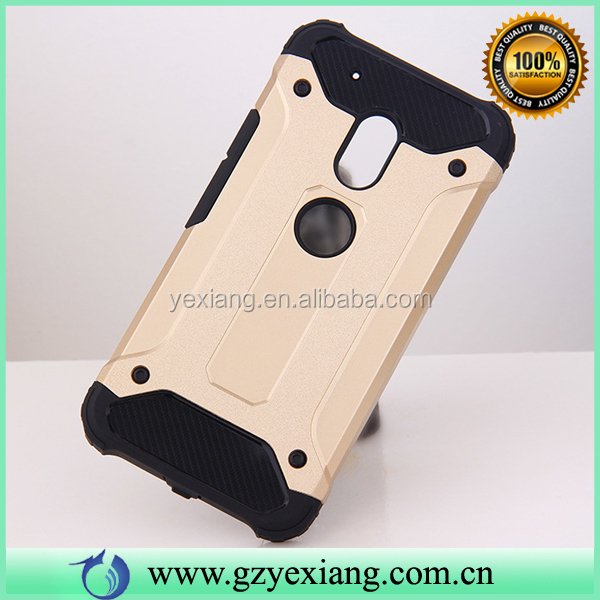 Factory Wholesale Shockproof Silicon+PC Phone Case For Motorola Moto G4 Plus Armor Case