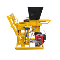 Manual Compressed Earth Block Machine HBY2-15 Cement Interlock Brick Machine/ Manual Fly Ash Brick Making Machine