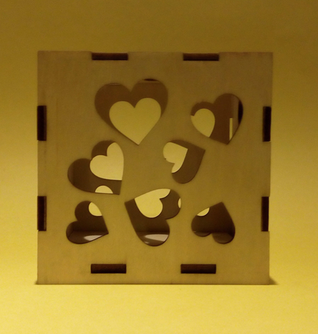 DIY Laser cut wood puzzle box for toys