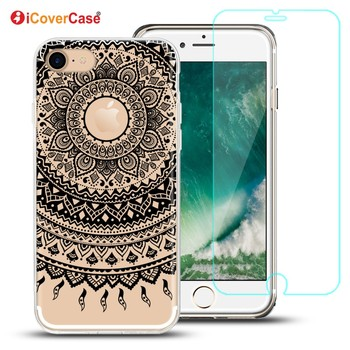 Soft Cover For iPhone 8 Plus Gel Silicone TPU Case For Apple iPhone 8 Case Cover Accessories with Tempered Glass