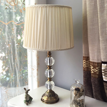 Cheap Hotel Glass Bedside Table Lamps