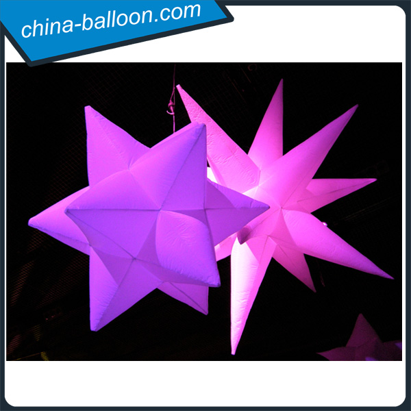 indoor inflatable air star balloon/decorative hanging stars for party decoration