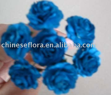 7 head handmand paper small flower in blue