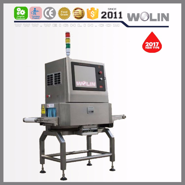 Intelligent X-ray food foreign material inspecting detector machine on packaging line Stainless steel ball stainless steel wires