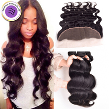 Grade 8 Mink Human Virgin Hair With Closure Lace Frontal Ear To Ear Lace Frontal Closure With Bundles Peruvian Body Wave