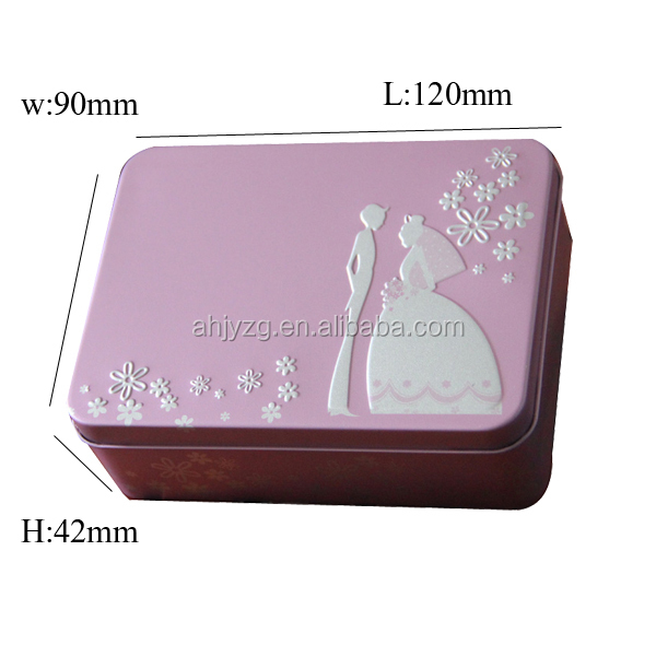 embossing bride make up box