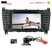 LPYFRG C600 touch screen car radio stereo for Mercedes Benz C Class W203 CLK W209 with gps navi system 1G/2G RAM android 7.1