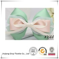 Pink & Green Satin Ribbon Elastic Hair Band Jewelry