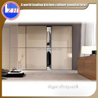 Zhihua acrylic modern wood bedroom wardrobe closet with louvered doors in Dubai