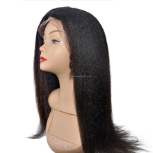 Remy Lace Front Wig Yaki-Kinky Straight Human Hair Wig For Wholesale