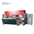 precise hydralic 4-column roll press die cutting/leather cutting press/hydraulic travelling head cutting press machine
