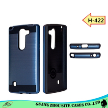 Hybird tpu pc metal brushed phone case for lg stylus 2 plus hot selling case