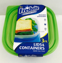 New product green disposable plastic food storage container