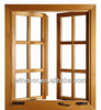 Qingdao Grill Design Aluminum Clad Wood Window, wood color hard profile aluminum windows
