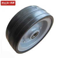 10 inch transport cart solid rubber tire tractor wheel