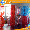 New designed half color body zorb ball, inflatable bouncing ball half red/blue bumper ball