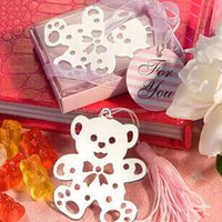 best selling cute little bear gift bookmark wedding favor mental souvenir