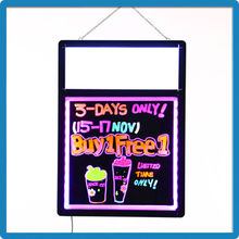 2015 Hot Selling ZD LED Writable Sign Light Box Aluminum Alloy Frame Lighted Window Display 90 Flashing Modes