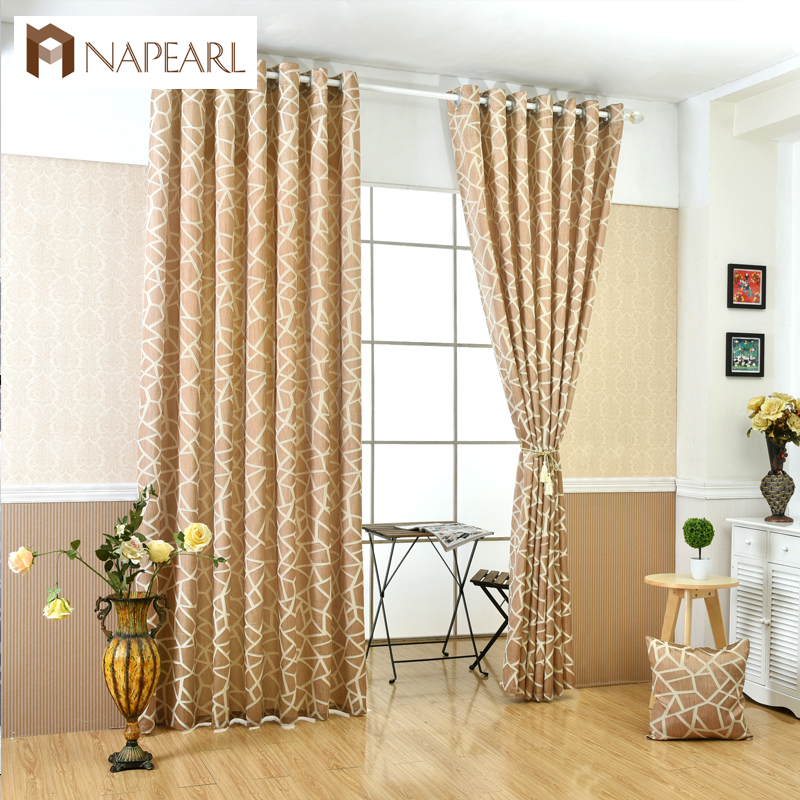 NAPEARL high quality jacquard blackout window fabric living room curtains