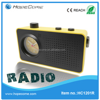 (HC1201R) quanzhou hopecome radio travel clocks alarm for travel