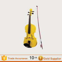 China 4/4 Full Size Yellow Violin for Student