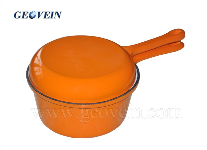 Porcelain Enameled Finishing and Small Sauce Pan