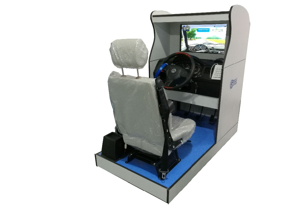 Driving school Standard car driving simulator with one LED screen