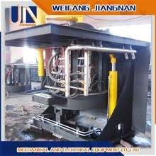 500kg Steel Shell Hydraulic Tilting Induction Melting Furnace